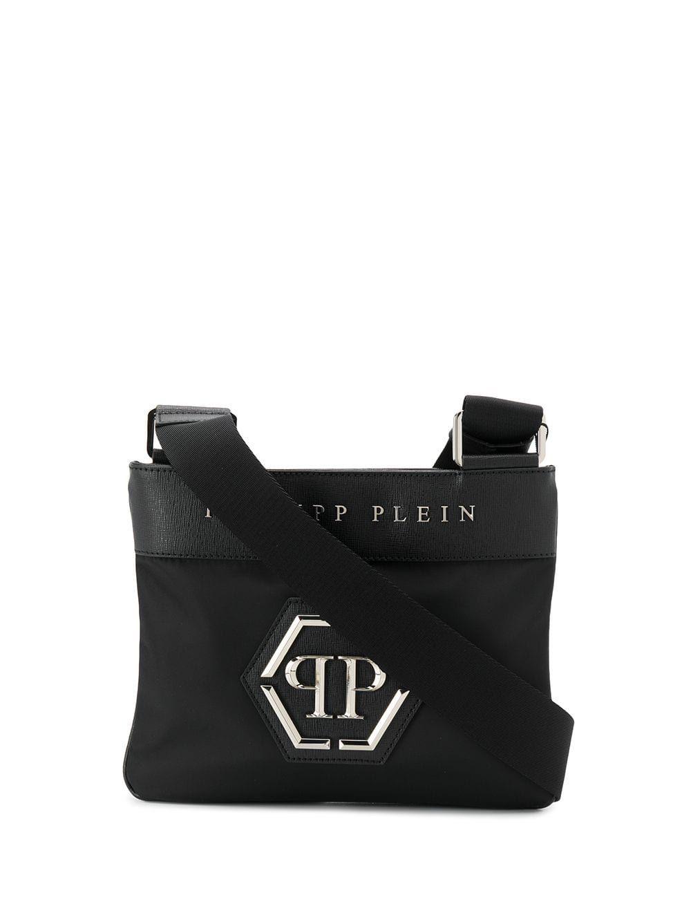 78163b34b2 PHILIPP PLEIN PHILIPP PLEIN LOGO PLAQUE SHOULDER BAG - BLACK. #philippplein  #bags #