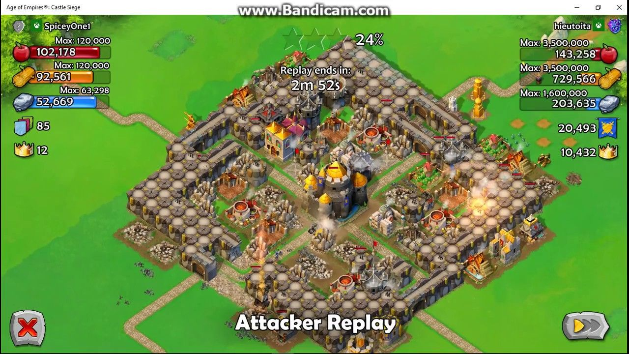 Castle siege age of empires how to beat historical challenge - Age Of Empires Castle Siege Conrad Joan Attack Strategy Win 100 Pinterest Age Of Empires Watches And Empire