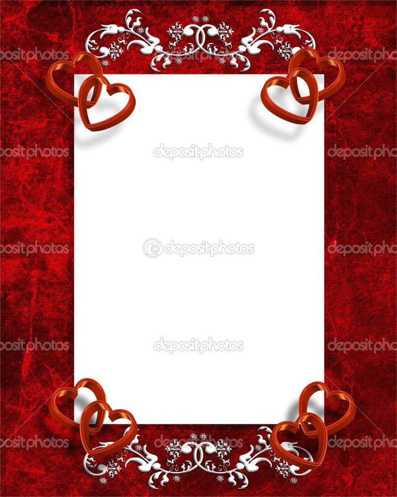 valentine\'s day wedding invitations | Valentines Day Hearts Border ...