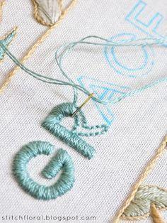 GRACE: motif de broderie gratuit   – Hand stitching // Embroidery
