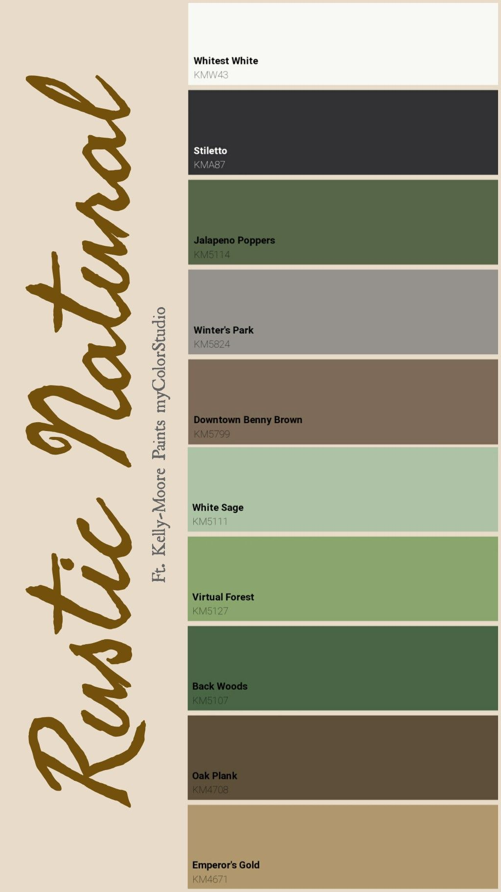 Rustic Natural Theme Color Palette Brown And Green Living Room Green Colour Palette Living Room Color Schemes