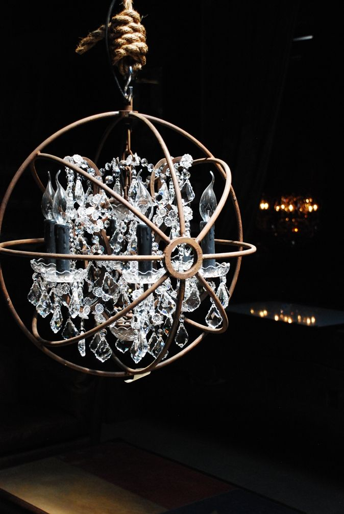 When Rope And Iron Collide Chandelier Inside Metal Globe Timothy Oulton
