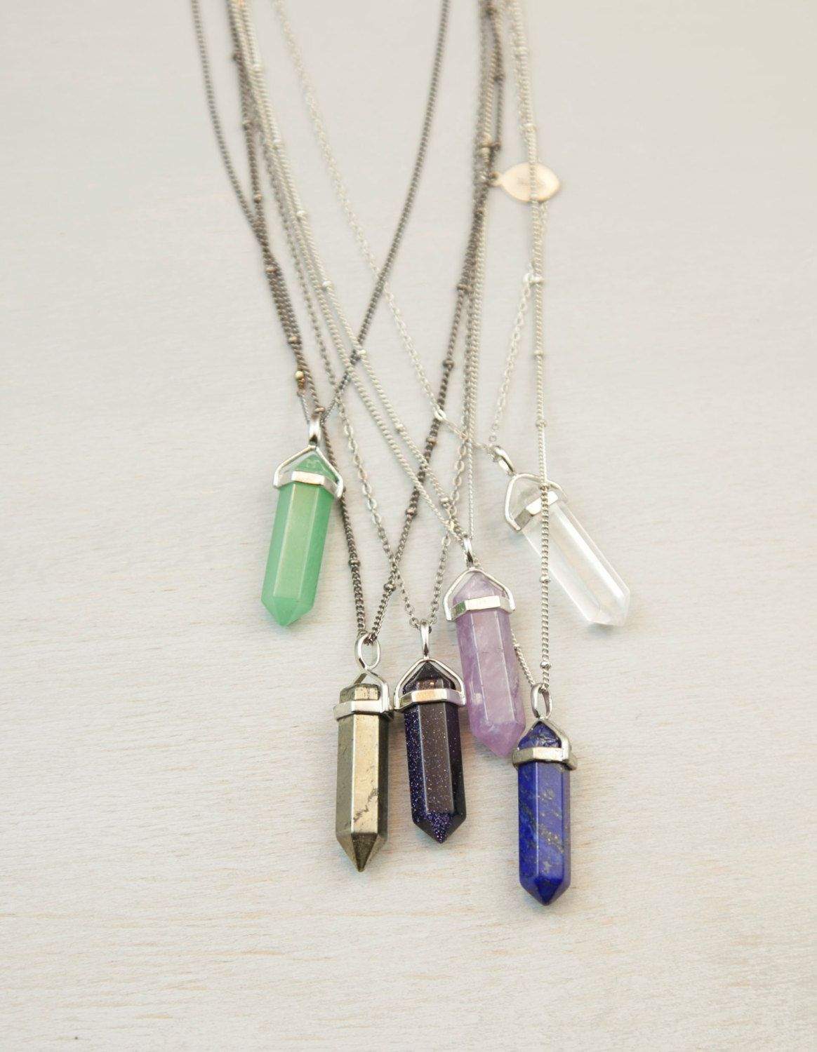 Tumblr my stylecessorized pinterest crystals jewelery crystal point long necklace long chakra crystal pendant necklace natural stone crystal point with extra long necklace option on wanelo mozeypictures Gallery