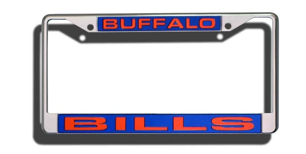 Buffalo Bills Laser Cut Chrome License Plate Frame | Buffalo bills ...