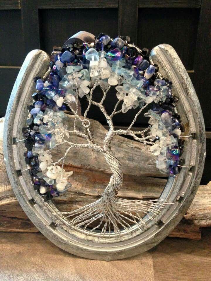 Kaitie Promber Tree Of Life Pendants Crafts Horseshoe
