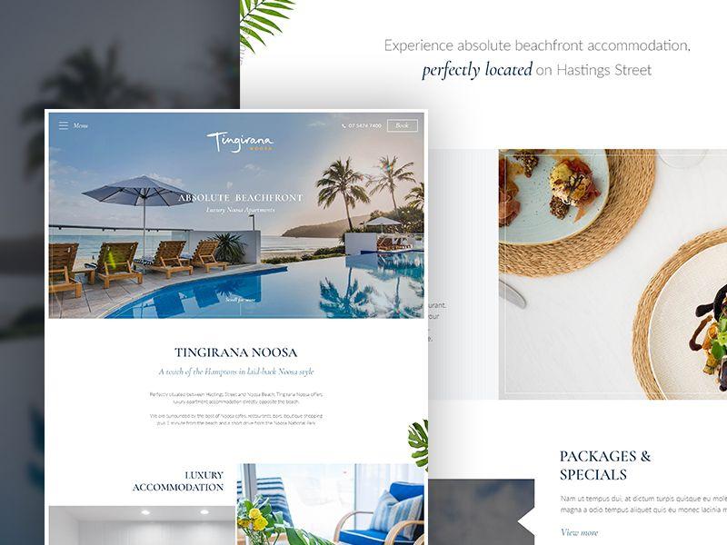 Luxury Resort Website Concept