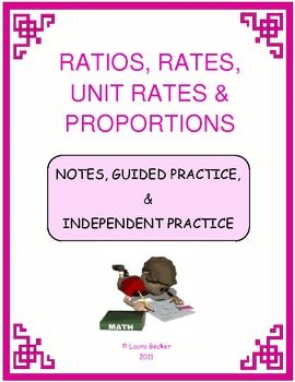 Ratios, Rates, Unit Rates & Proportions Mini Bundle ~ Common