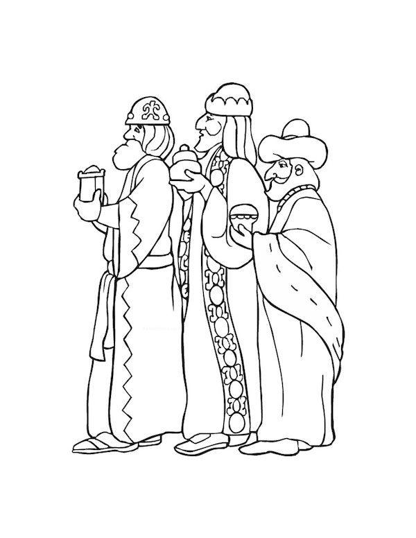 10 Dibujos De Los Reyes Magos Para Colorear Gratis Pequeocio Paginas Para Colorear De Navidad Silueta Reyes Magos Dibujos
