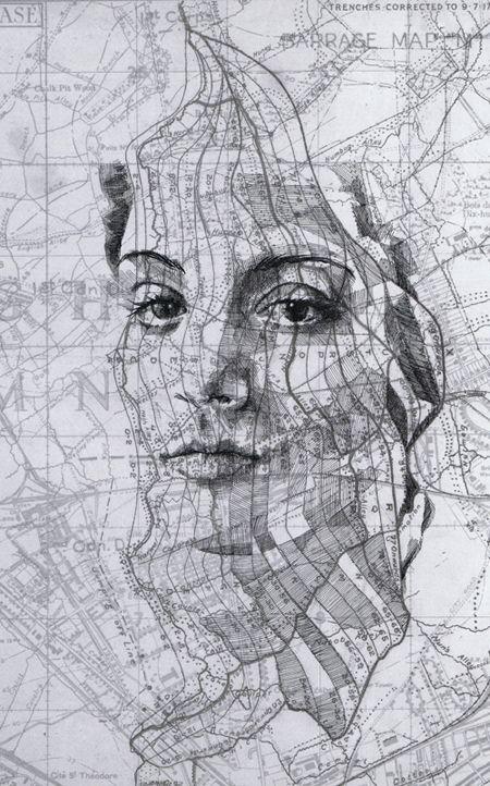 Blog De Arte Y Diseno Los Retratos Cartograficos De Ed Fairburn Arte Con Mapas Produccion Artistica Arte Y Diseno