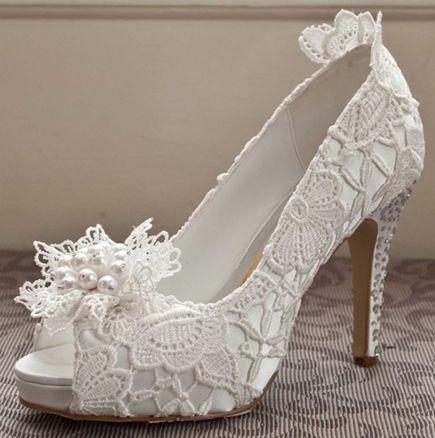 Bridal Shoe Perfect White Lace Wedding Shoes