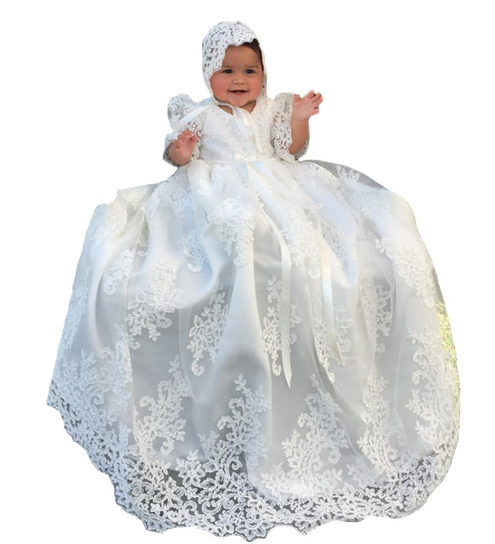 Best dress to wear to a baptism  Click to Buy ucuc Super Gorgeous Gowns Dresses White Baptism Birthday
