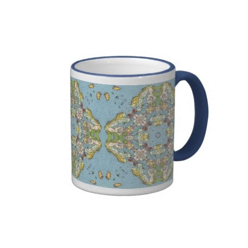 Abstract Map of Europe Mug