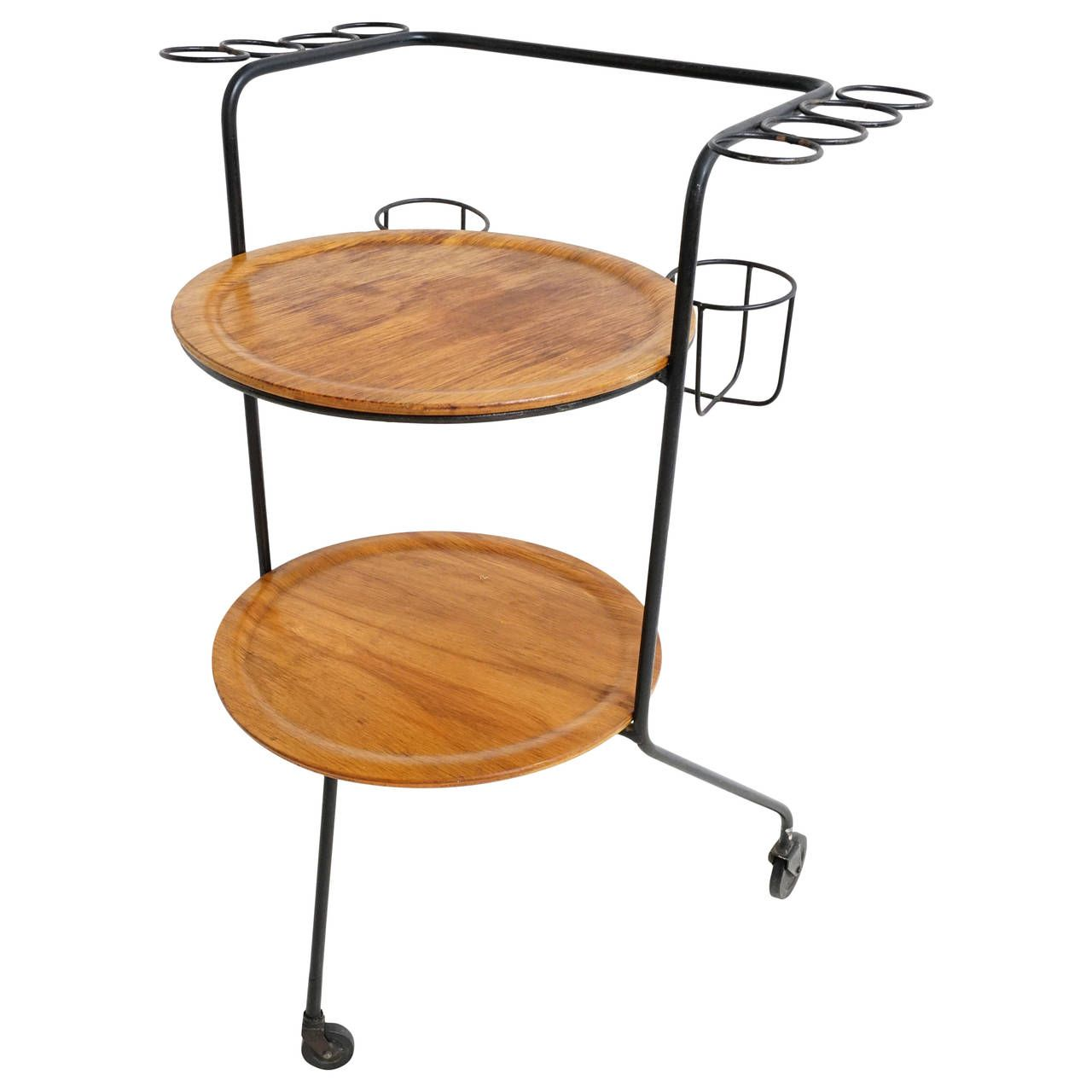 California Modern Iron Bar Cart by Tony Paul | Pinterest