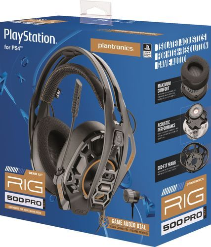 Plantronics Rig 500 Pro Hs Wired Gaming Headset For Playstation 4 Black Rig 500 Pro Hs Playstation 4 Plantronics