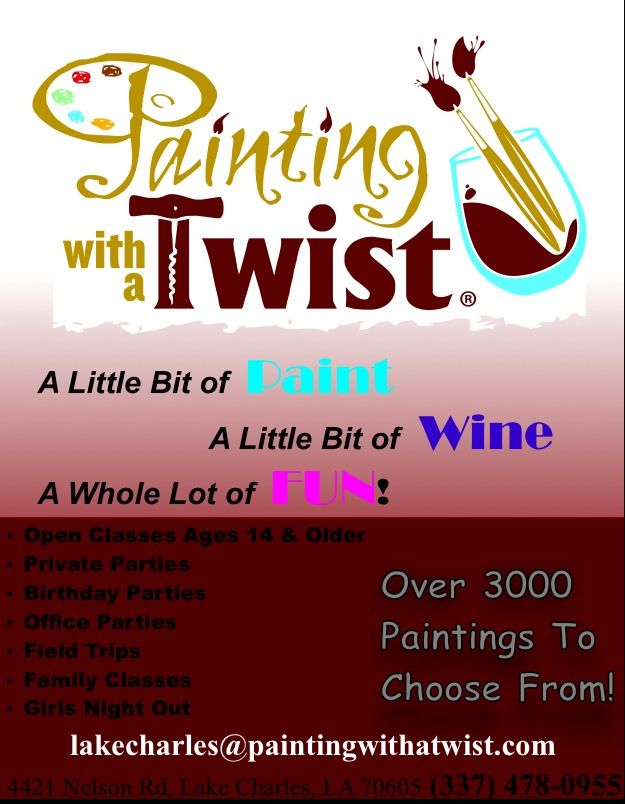 Painting With A Twist Lake Charles La Paint And Sip Lake Charles Field Trip