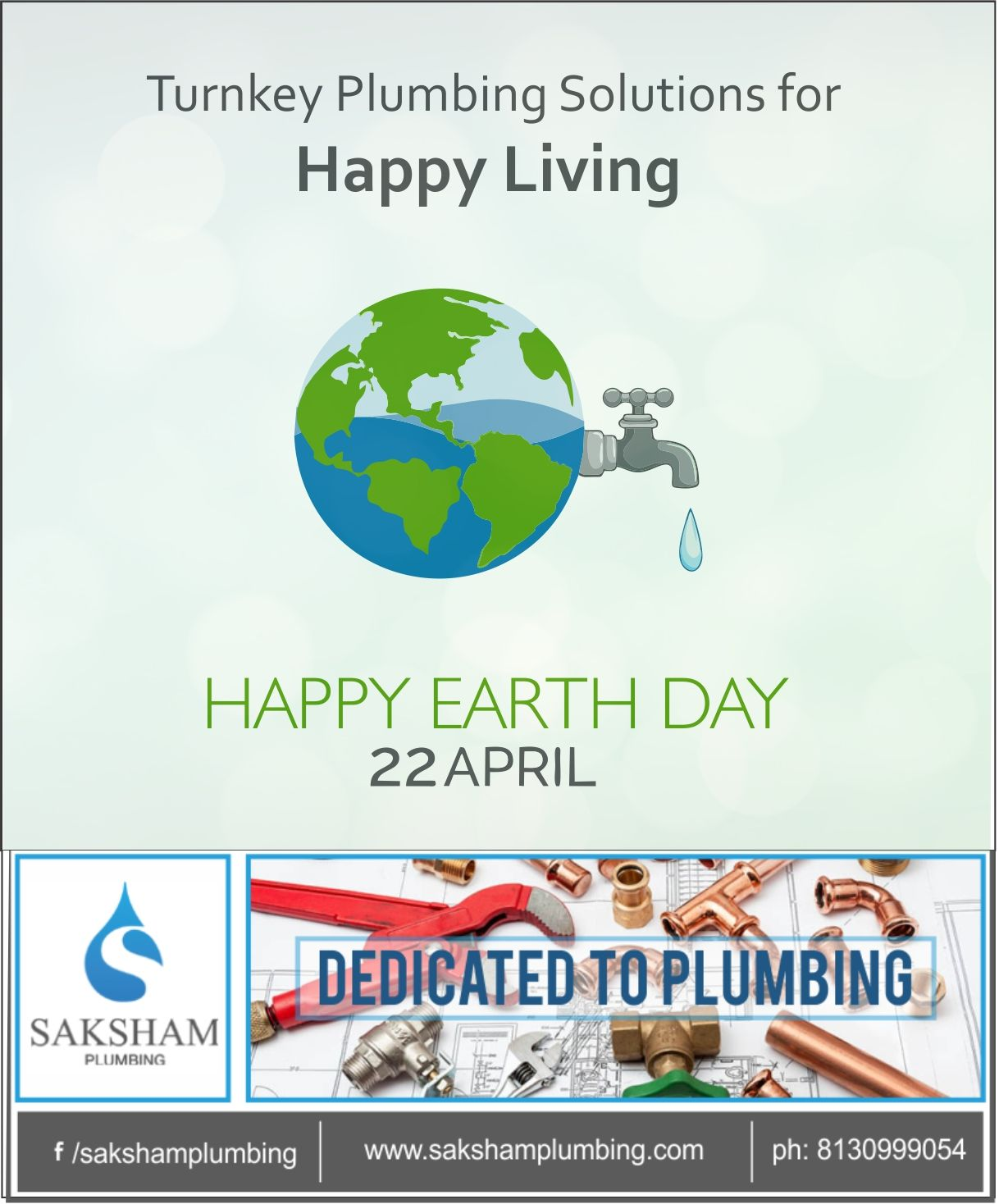 Saksham offers #turnkeyplumbingsolutions that reduces the impact on our environment. Book an appointment today for a happy and stress free living.