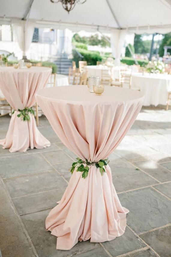Blush Tablecloth Cocktail table 120 Round 90x156 90x132 132 Round  1DAYFREESHIP Sweet 16 #pooloutfitideas
