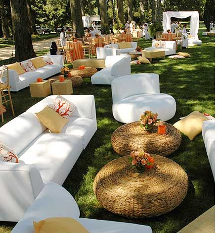 Outdoor Wedding Furniture But With Antique Mismatched