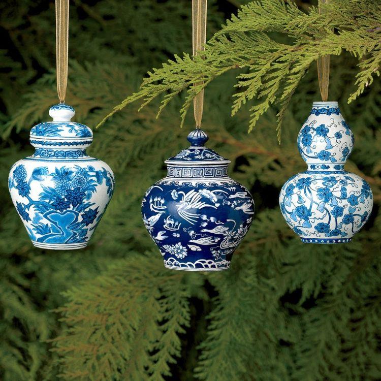 Weihnachtsdeko Weisses Porzellan.Weihnachtliche Deko Porzellan Dekorieren Anhänger Christbaum Idee