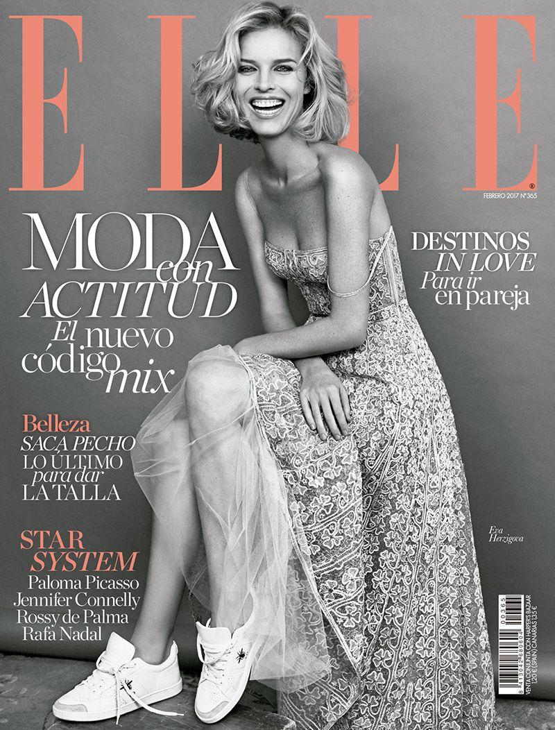 Eva Herzigova for Elle Spain February 2017