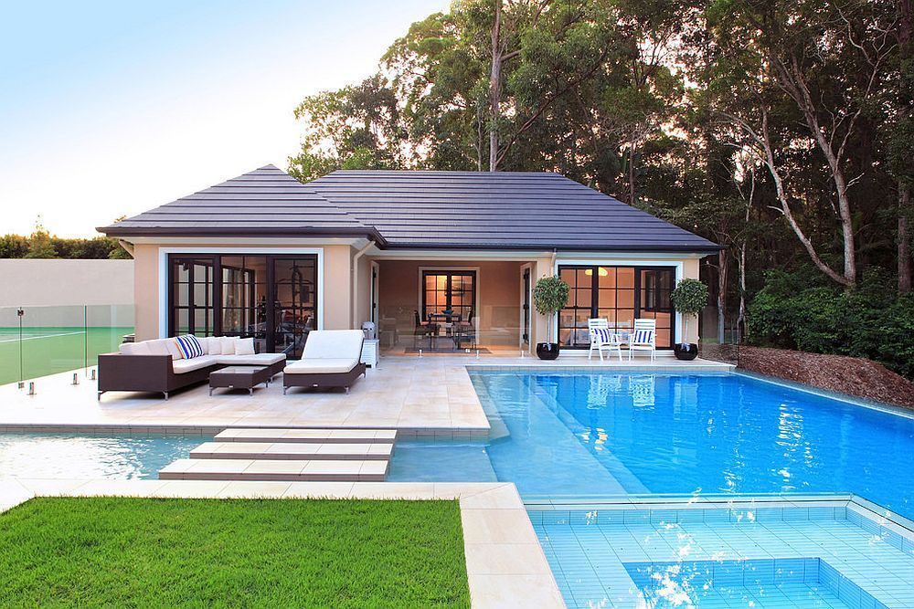 Cost Effective Holidays Best Pool Houses For Never Ending Staycations Pool Houses Modern Pool House Outdoor Living Space Design