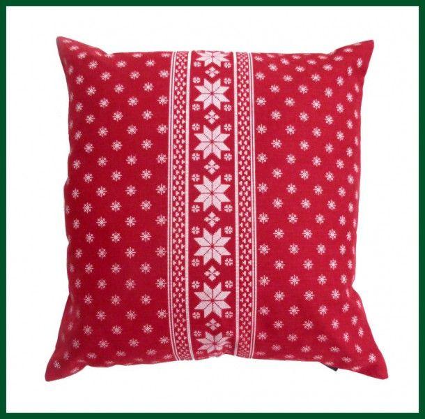 Kissen Gefullt Rot Zierkissen Schneeflocke Weihnachten
