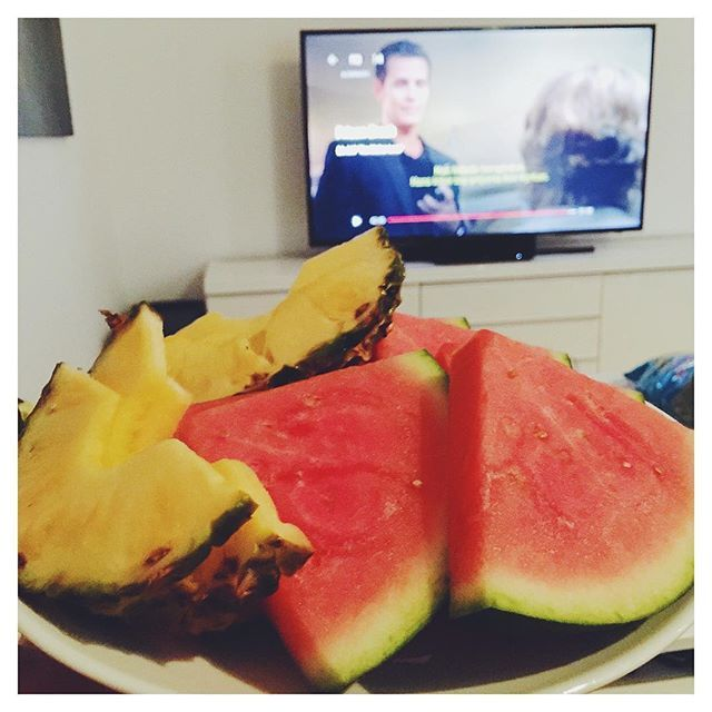Night snack before bedtime! 🍍🍉