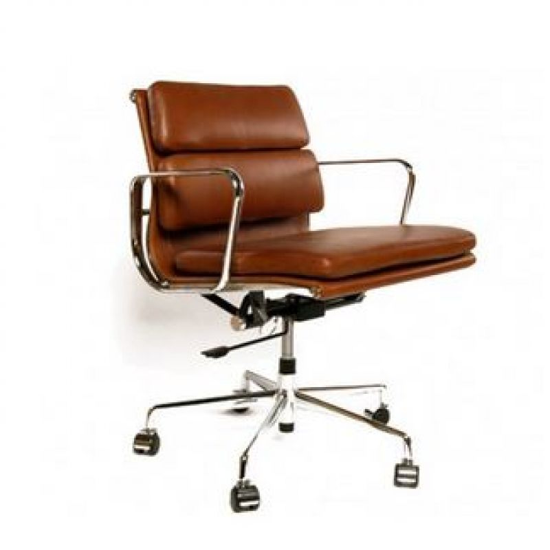 Black White Leather Eames Office Chair Brown Leather Office