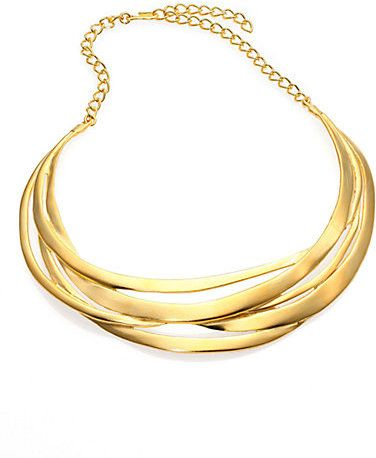 Kenneth Jay Lane Cutout Collar Necklace Crystal