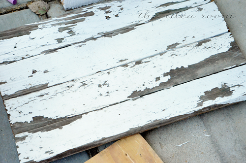 Distressed wood photo prop