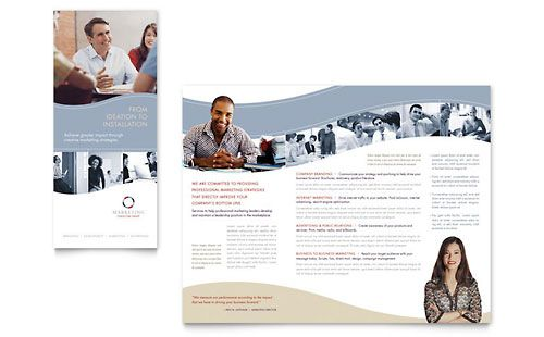 Marketing Consulting Group Tri Fold Brochure Word Template - Word templates for brochures