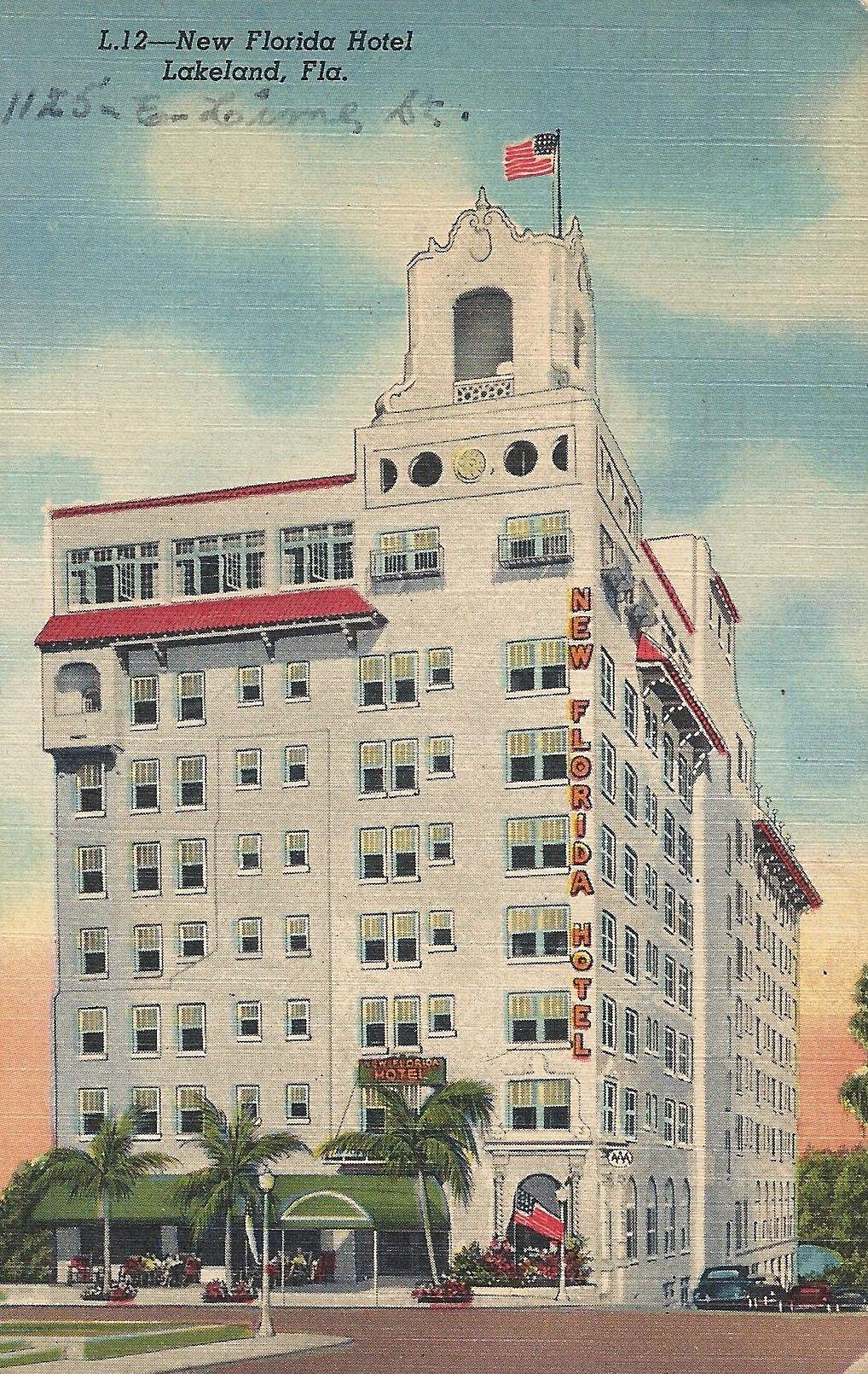 New Florida Hotel Lakeland Postmark Is 1953