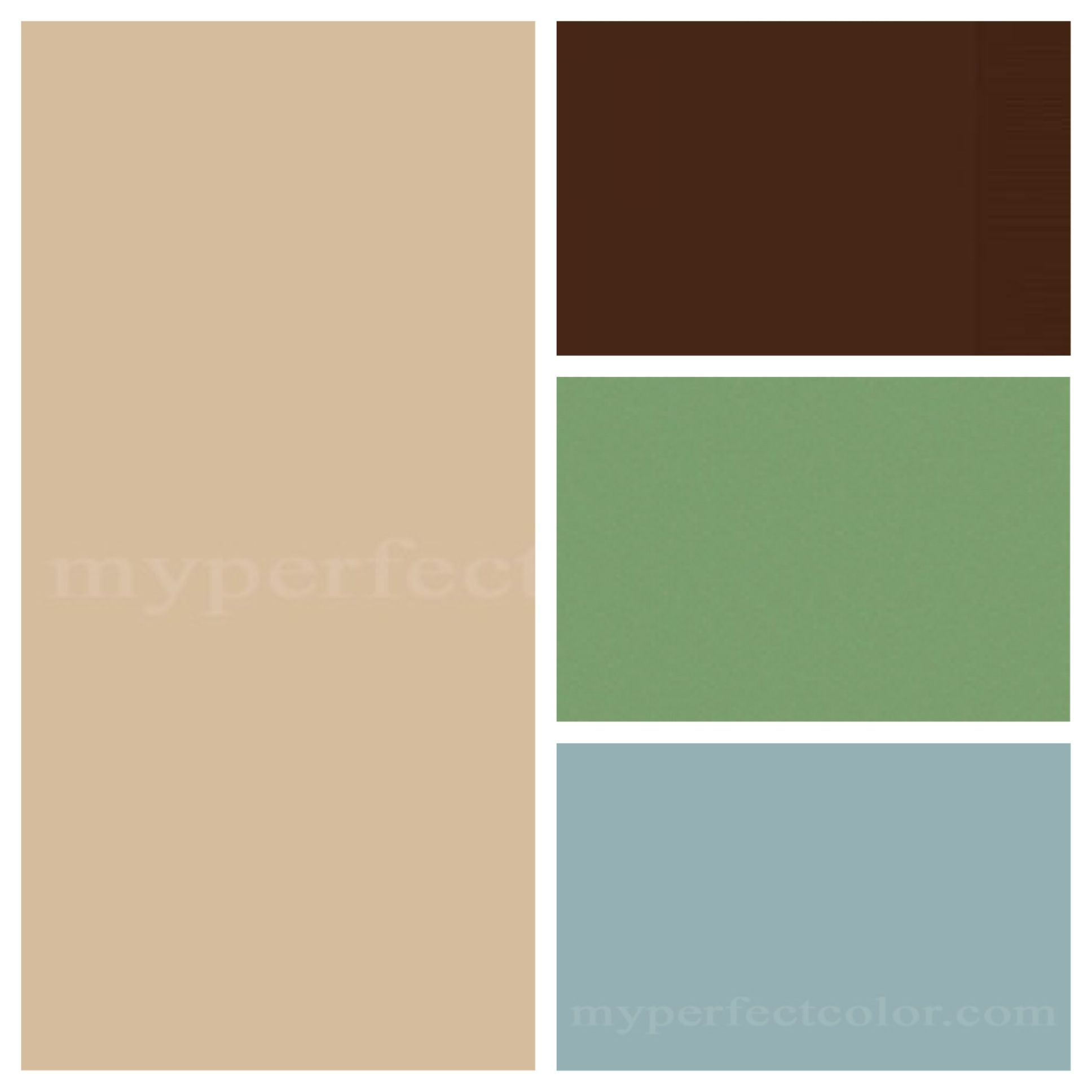 Woodland Color Scheme  have a background in the blue or green with