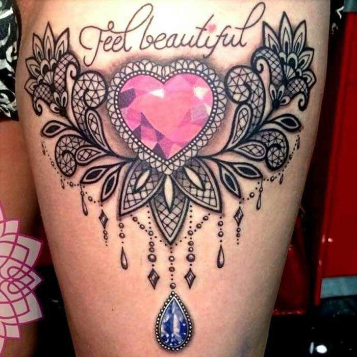 75 tatouage dentelle de toute beauté : baroque et sensuel bien le
