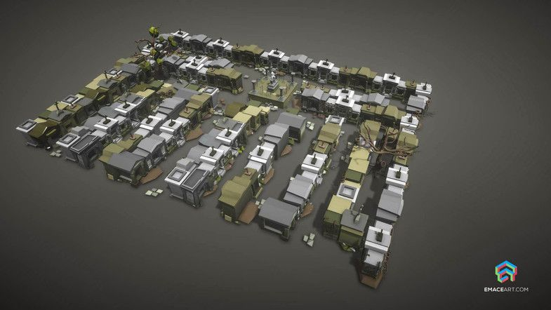 Low Poly Necropoly Graveyard Exterior Huge Pack Sponsored Spon Graveyard Necropoly Poly Exterior Low Poly Unity Asset Store Unity