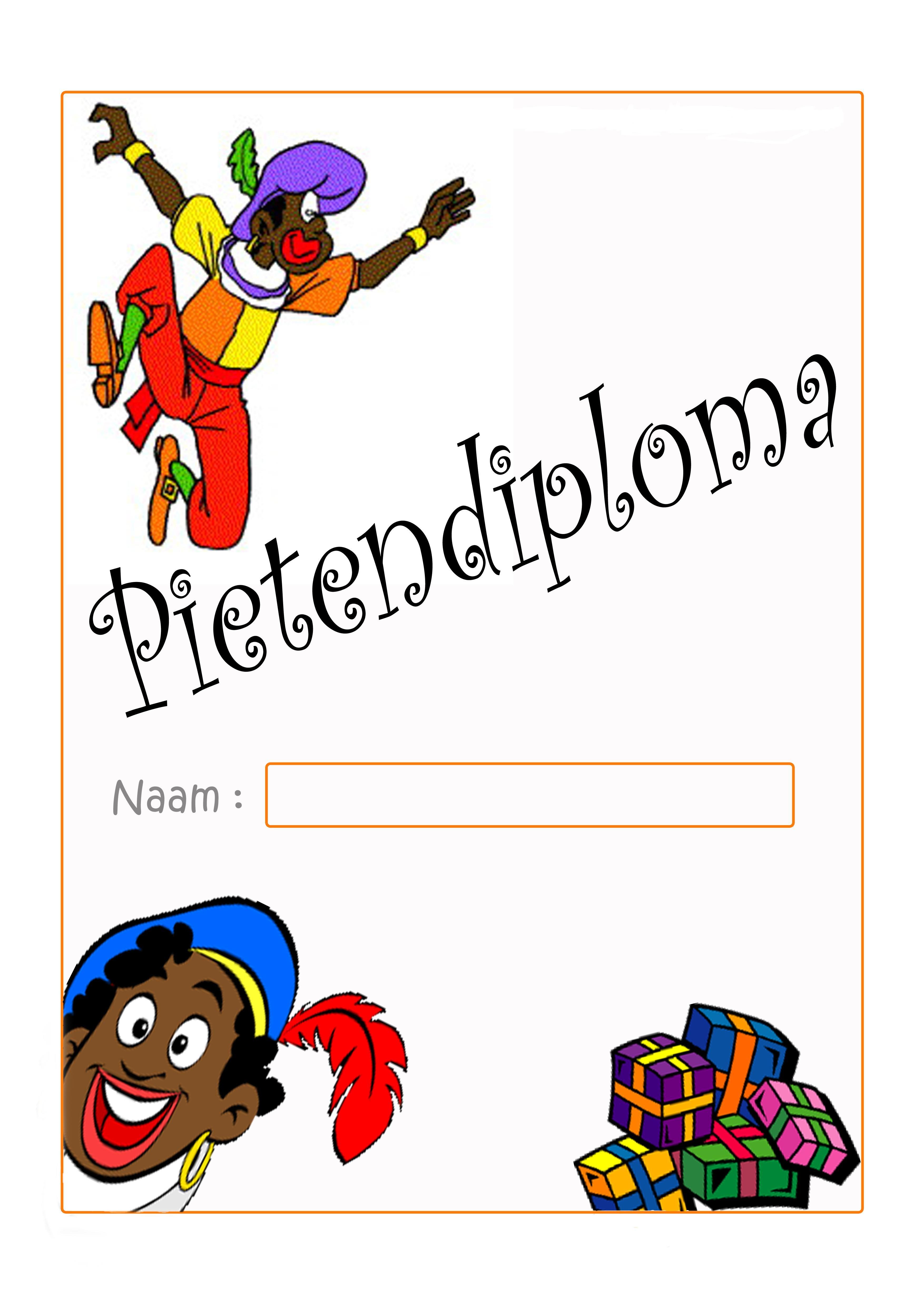 Pietendiploma Knutselen Sinterklaas Diy Sinterklaas Sinterklaas