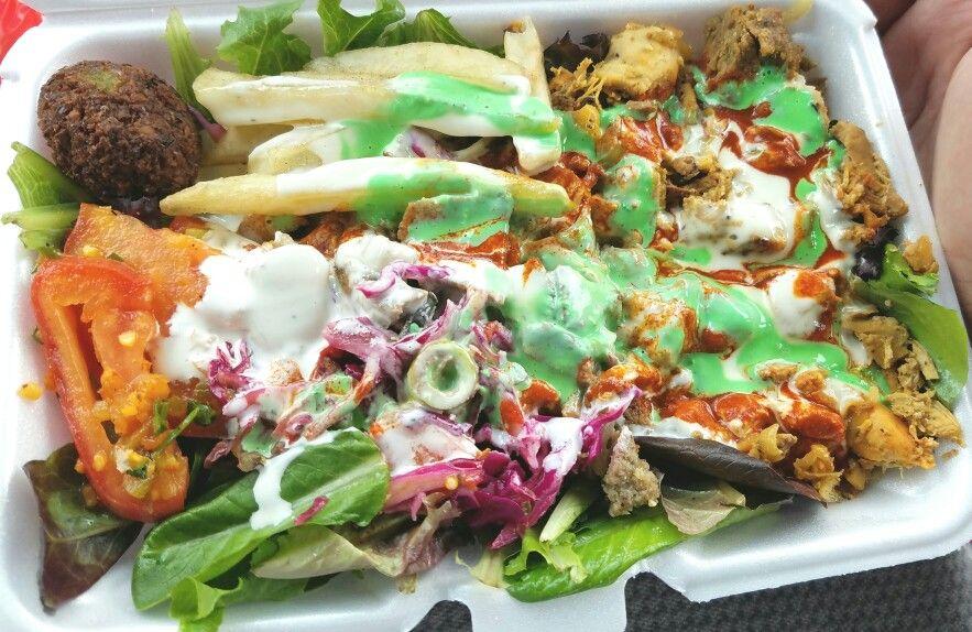Best Halal Food In Long Island City Mixed Salad Falafel With Both Chicken And Lamb Nyc Food Halal Recipes Food