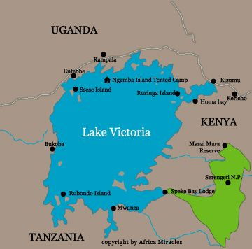 Lake Victoria On Map Of Africa.Lake Victoria Touches On Several Countries Kenya Uganda Tanzania