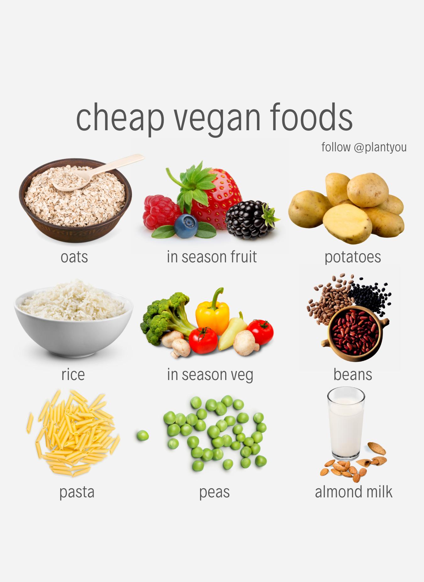 Cheap Vegan Foods How To Go Vegan Veganuary Tips Veganuary Challenge Vegan Recipes Plant Based Vegan Foods Vegan Meal Plans