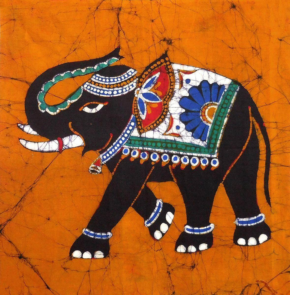 The Royal Elephant - Batik Painting
