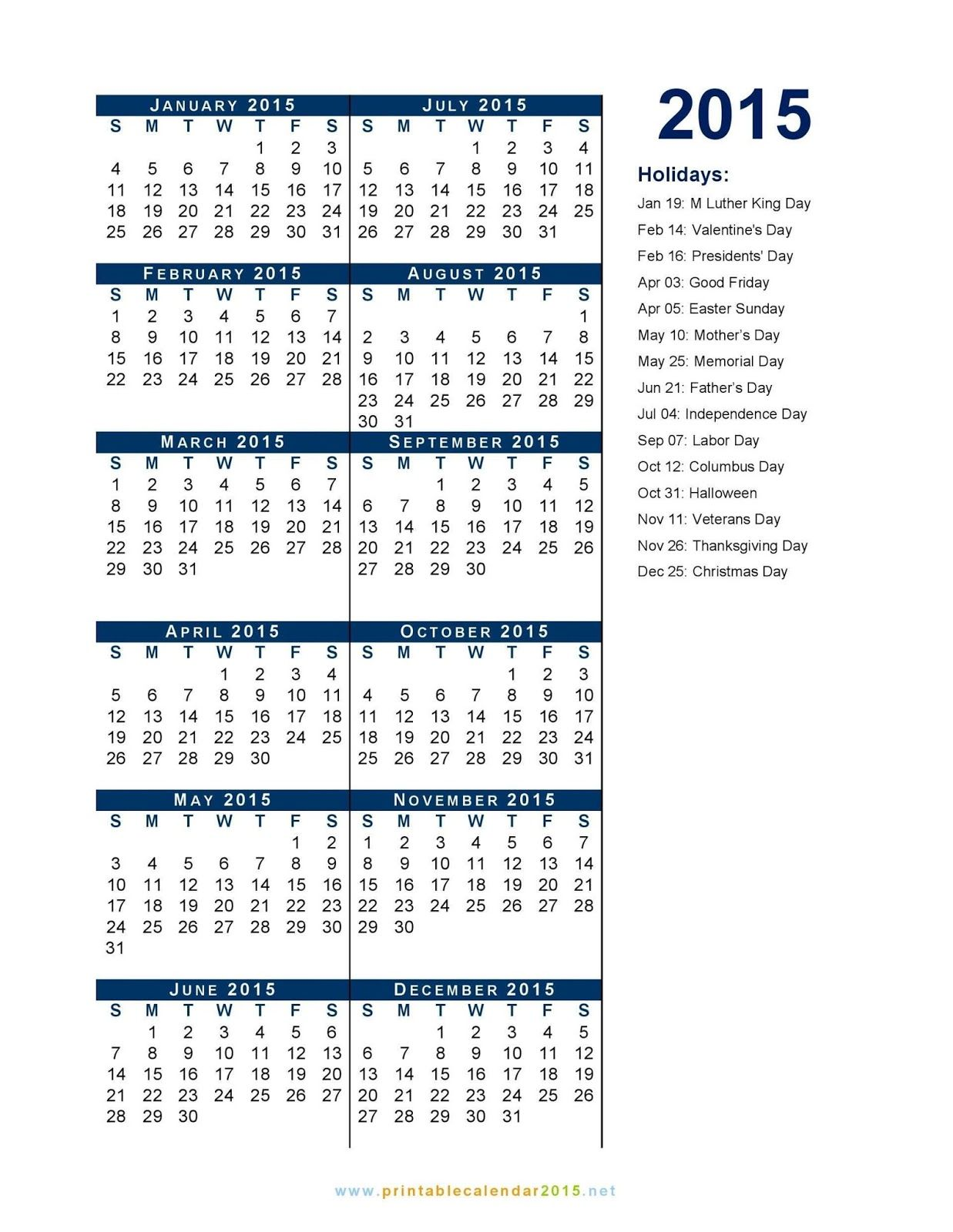 Federal Holidays 2015 List United States Holiday Official List