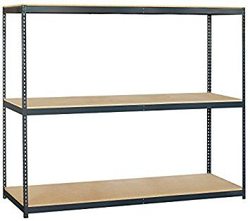 Salsbury Industries Solid Shelving Unit 96 Inch Wide By 84 Inch High By 24 Inch Deep Shelves Steel Shelving Unit Steel Shelving