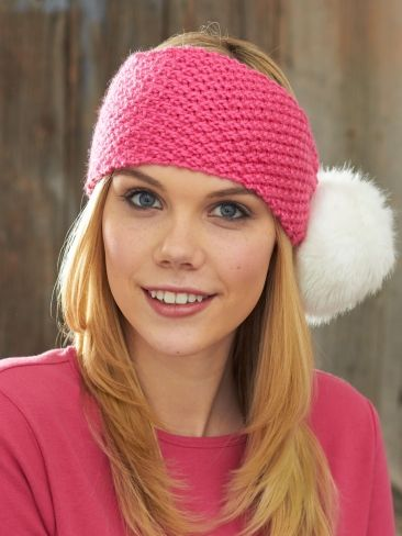 Pompom Headband Yarn Free Knitting Patterns Crochet Patterns
