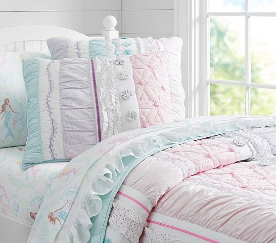 bailey ruffle quilted bedding i love the ruffles and mermaid sheets