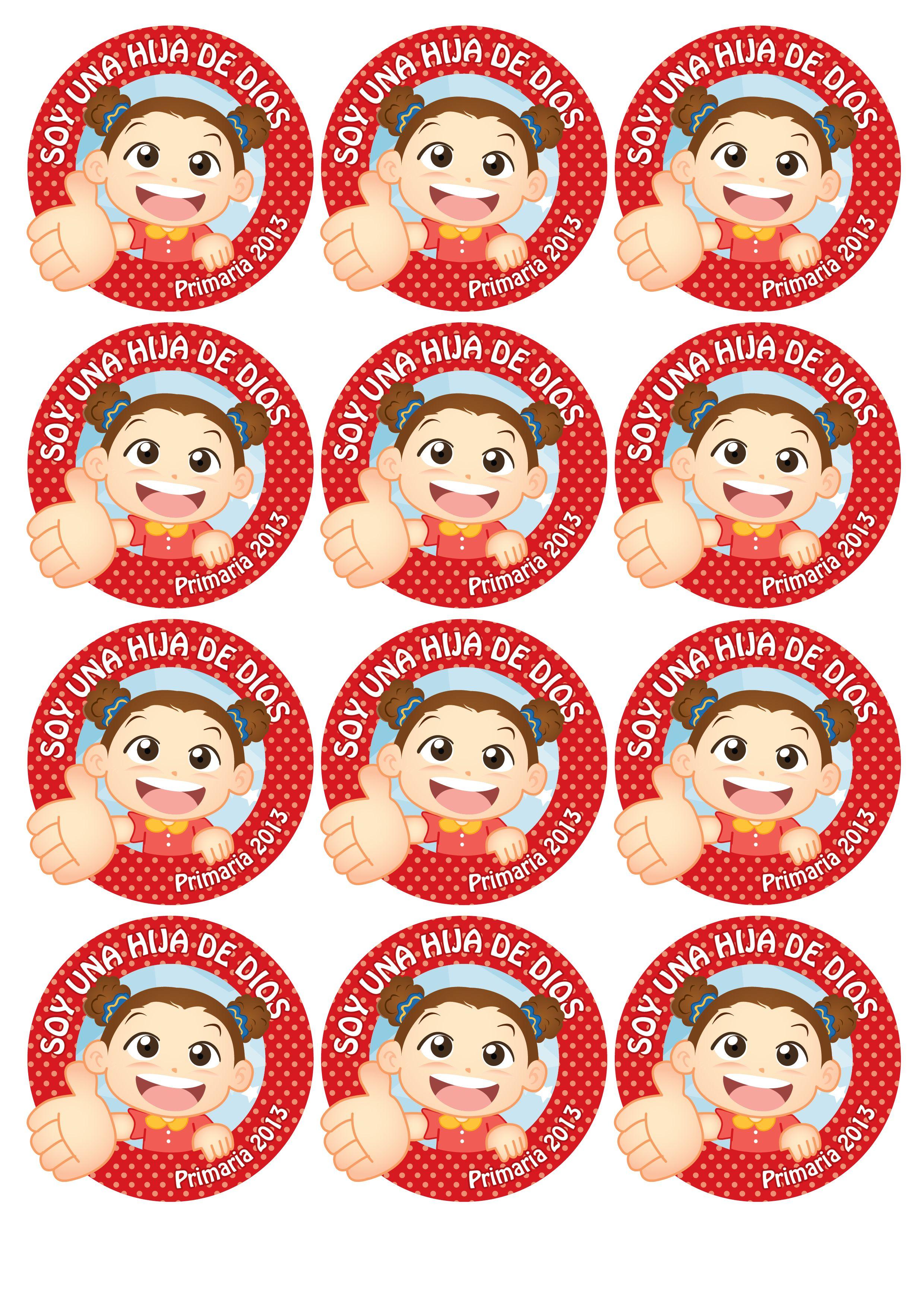 Distintivos para niñas!! =D   Primaria   Soy un Hijo de Dios ...