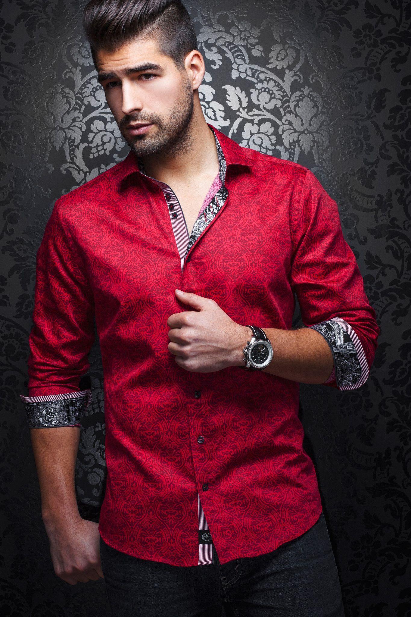 b0c67f4423d5 Au Noir Shirt - Montoya Red   photo of models   Shirts, Mens fashion ...