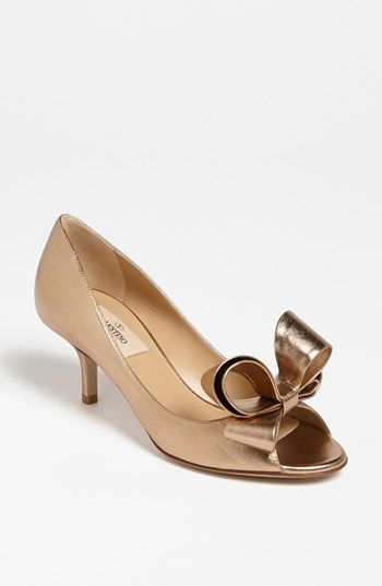0680d6dbfd80 Valentino Metallic Nappa Couture Bow Pump available at  Nordstrom ...