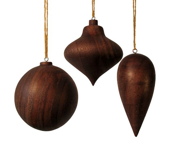Bauble Walnut Ornament