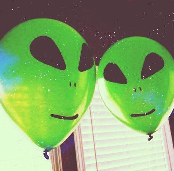 Alien Hesitant Alien Aesthetic Alien Party Green Aesthetic