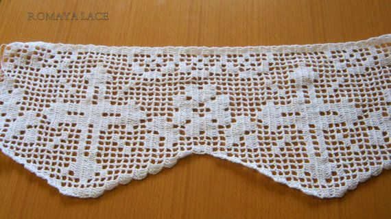 Altar lace handmade lace crochet trim cross and flowers for Pizzi all uncinetto per asciugamani